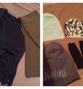 Шапки,митенки,шарфы