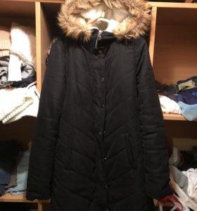 Замшевая зимняя куртка, размер 42