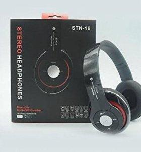 Bluetooth наушники stn-16 black (арт.31355)