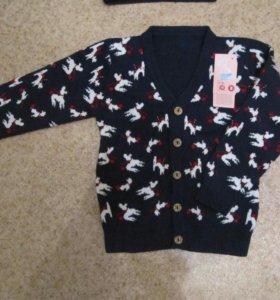 пуловер на 2-4года