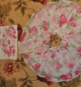 Новый нарядный комплект Mothercare с цветочками,74