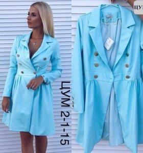 Платье - пиджак 44 р пальто плащ кардиган