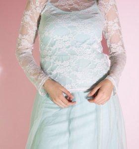 Кружевной лонгслив/блуза/кофта