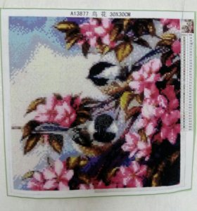 Картина, в технике алмазной вышивки