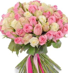 Акция!!!роза Эквадор 25 штук