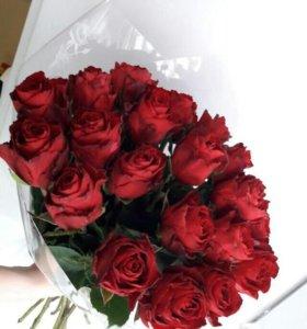 Букет, розы 19шт