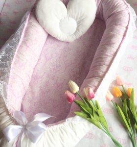 Кокон-гнёздышко и подушечка для новорожденного