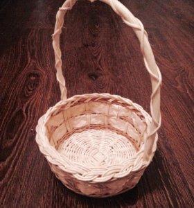 Плетёная корзиночка