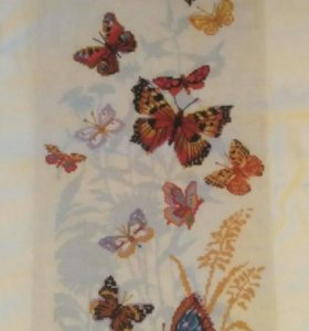 Вышивка крестом бабочки