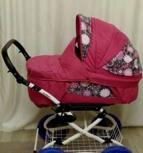 Коляска детская 2 в 1 с чехлами для колёс