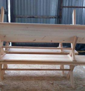 Лавка деревянная