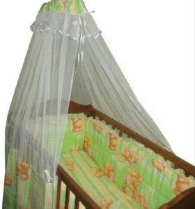 Бортики+балдахин в кроватку