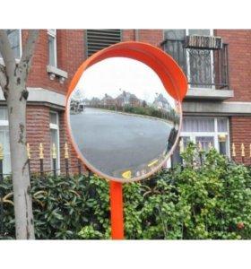 Зеркало уличное с козырьком 800мм с крон. для труб