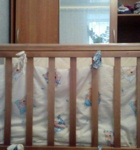 Детская кроватка маятник, качалка