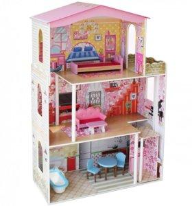 Кукольный домик для Барби трехэтажный  (новый)