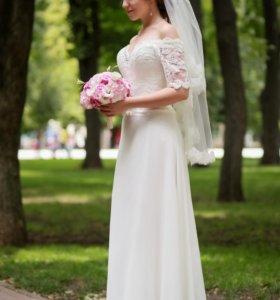 Нежное свадебное платье продажа /прокат