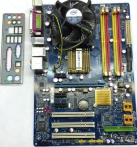Материнская плата Socket 775 + процессор + кулер