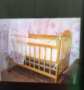 Кровать детская с балдахином и  артопед. матрасом
