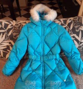Пуховое пальто на девочку