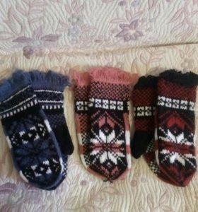 Новые варежки и носки