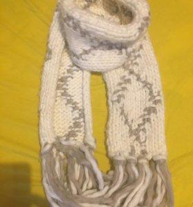Новый длинный вязаный шарф из акрила