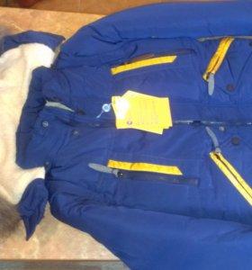 НОВАЯ зимняя куртка (рост 152-158) маломерка