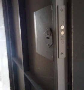 Дверь металлическая не утепленная.