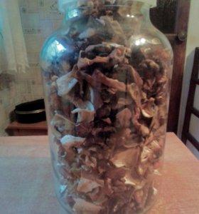 Сушеные грибы.