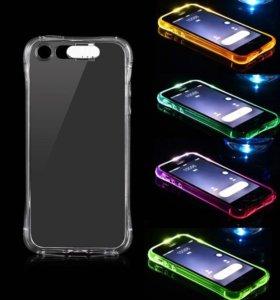 Светящийся чехол на айфон 5, 5s, SE