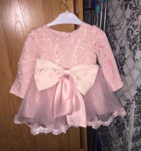 Платье на девочку 10мес -1,5 годика