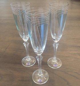 Бокалы фужеры для шампанского Bohemia