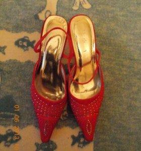 Туфли С открытой пяткой розовые