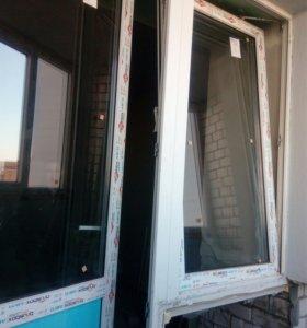 Дверь + окно на балкон