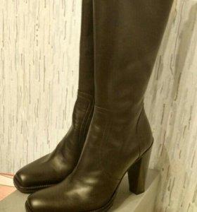 Сапоги женские кожаные 36 размер