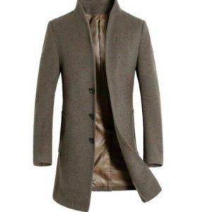 Пальто мужское шерстяное зимнее