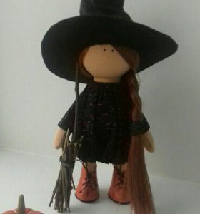 Текстильная ведьмочка.