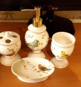 Набор аксессуаров для ванны Avanti Gilded Birds