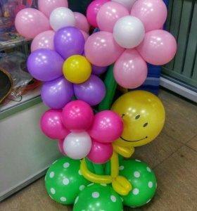 Букеты из шариков. Цветы