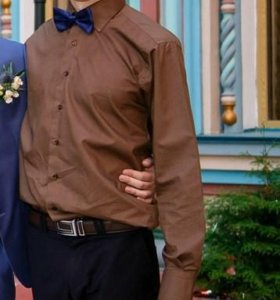 Мужская приталенная рубашка Бушерон