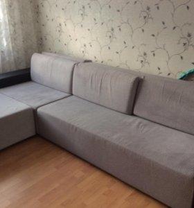 Продаётся диван,съемные чехлы,отодвигается пуф