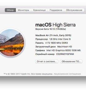 """MacBook Air 11"""" начало 2015 + сумка"""