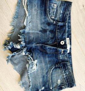 Джинсовые шорты Zara р 40-42