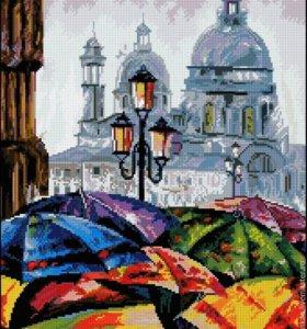 Городская радуга Картина вышивка крестом