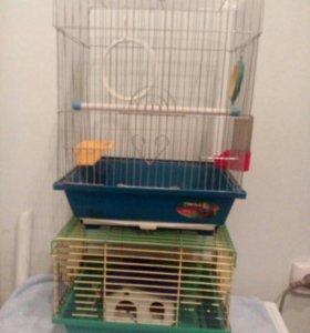 Клетки для попугая и хомяка