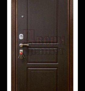 Двери стальные с броне накладкой,есть 2 шт.