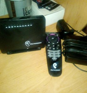 Оборудования Ростелеком роутер Wi-Fi +ТВ Приставка