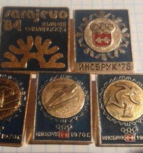 значки зимняя олимпиада 1984 Сараево