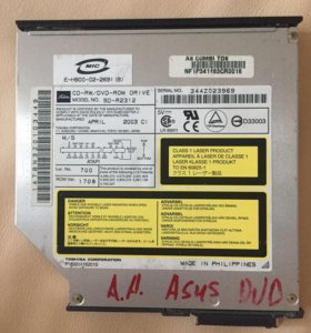 CDRW/DVD ROM для ноутбука ASUS