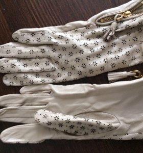 Перчатки кож зам очень красивые и стильные