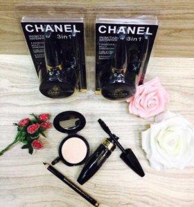 Набор тушь+карандаш+пудра Chanel